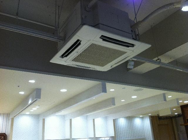 東京の店舗の業務用エアコン清掃