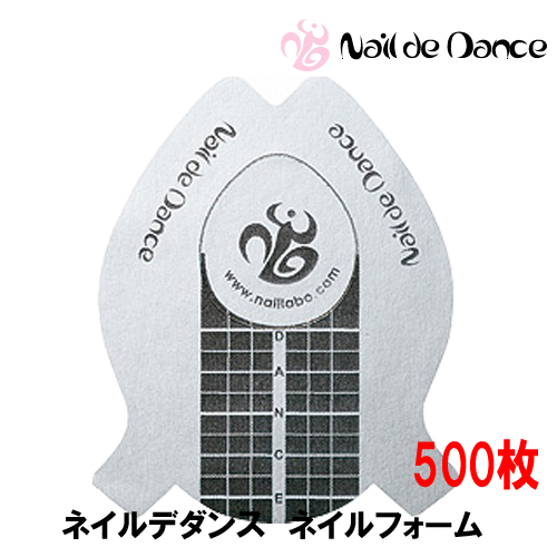 Nail de Dance ラウンドネイルフォーム 500枚 (ネイルデダンス)