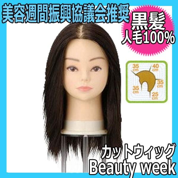 【カットウィッグ・人毛100%・黒髪】 Beauty week ビューティーウィーク セミナー指定ウィッグ