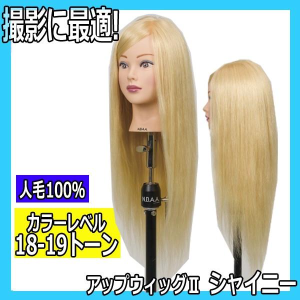 N.B.A.A. アップウィッグII シャイニー NB-WU2S 人毛100% キラキラ輝く髪 アップスタイルの練習、撮影におすすめマネキン NBAA