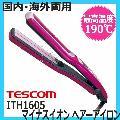 テスコム ITH1605 イオネ マイナスイオン ヘアーアイロン ピンク tescom ione (ストレートアイロン)
