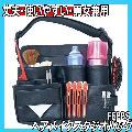 ヘアメイクスタジオバッグ FEPBS 男女兼用 スプレー、ダッカール、コーム、ブラシ収納に ヘアメイクケース/ポーチ/ウェストバッグ/カバン