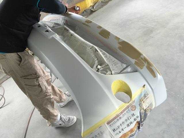エルグランド フロントバンパー 塗装