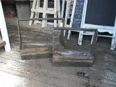 取っ手付き木箱L