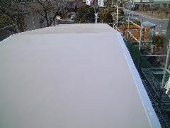屋外トイレ屋根防水工事(X-2工法) �A