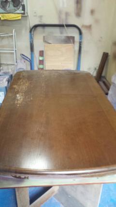 東京都江東区 ダイニングテーブル再塗装