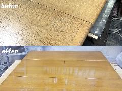 会議室エクステンション式テーブル再塗装施工