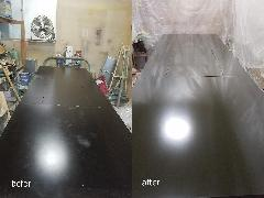 東京都江東区 ダイニングテーブル再塗装施工
