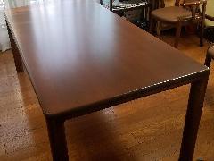 東京都調布市 ダイニングテーブル再塗装施工