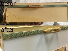 引き出しシート貼り施工