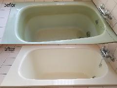 東京都練馬区 浴槽再塗装、タイル張替え施工
