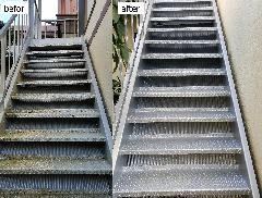 東京都葛飾区 外階段補修再塗装施工