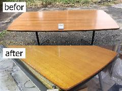 東京都大田区 ダイニングテーブル天板再塗装施工