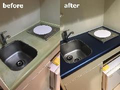 東京都新宿区 キッチン天板再生施工