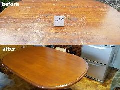 東京都豊島区 ダイニングテーブル再塗装施工