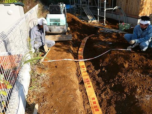 茨城 新築住宅 配管埋設工事