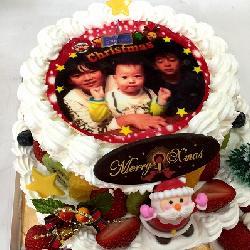 2段の豪華なクリスマスケーキ!! 生7号+5号