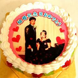 結婚記念日のお祝いに、結婚式のお写真で。