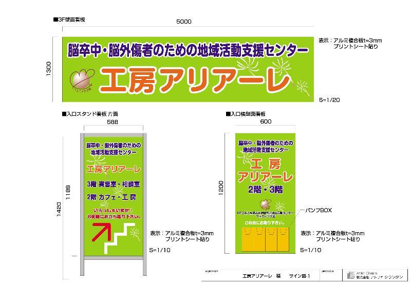 【2】看板アイテム図(仕上がりイメージ)