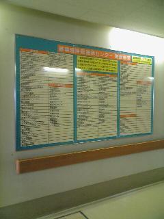 横浜市金沢区 病院名表示看板 マグネットシート脱着