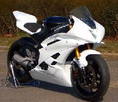 '06〜'07 YZF−R6 フルカウル<UPPER AND LOWER FAIRING>