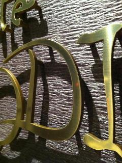 真鍮切り文字5t 銀座