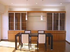 横浜市戸塚区・マンションリフォーム・オーダー食器棚