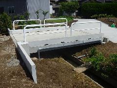 新潟市 西区 橋の建設工事