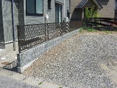 新潟県 西区 個人宅邸 フェンス取り付け、土留め工事