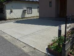 新潟県 西区 個人様宅のコンクリート駐車場舗装工事