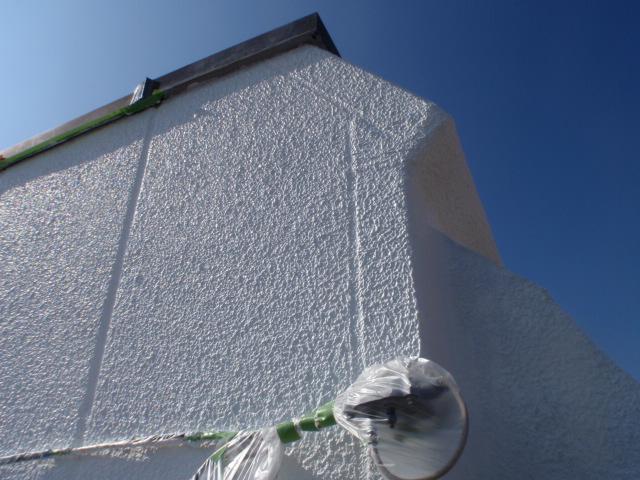 外壁塗装により工事完了。