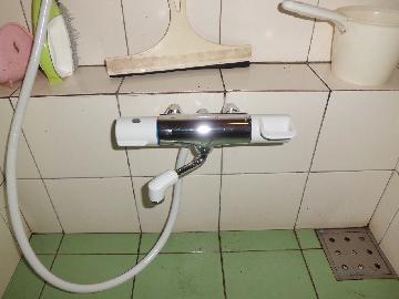 調布市国領 アパート 浴室水栓リフォーム