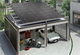 カースペースの屋根に太陽光発電