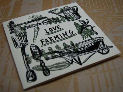 Number 62 二折りギフトカード FARMING