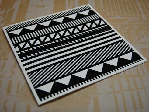 Number 62 二折りギフトカード Line black