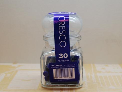 CRESCO クレスコ / 万年筆インク ガラスジャー・ブルー