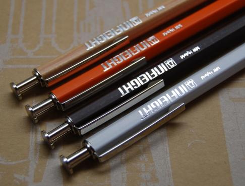 INFIEIGHT / メタルローレットウッデンボールペン