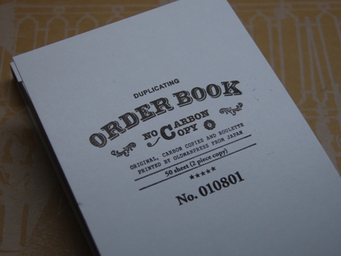 OLDMAN PRESS / ORDER BOOK オーダーシート