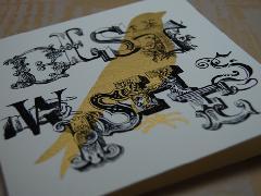 Number 62 二折りギフトカード BW bird