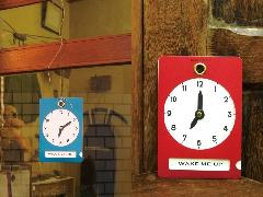 紙の手回し時計 クロックサイン
