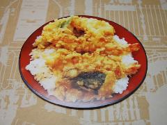 Number 62 型抜きポストカード / 天丼