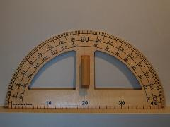 MERCHANT & MILLS / WOODEN PROTRACTOR