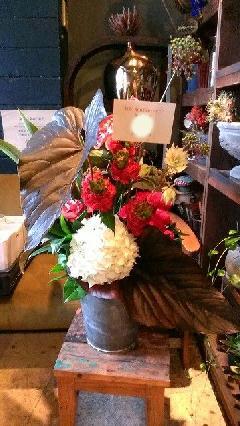 飲食店周年御祝花