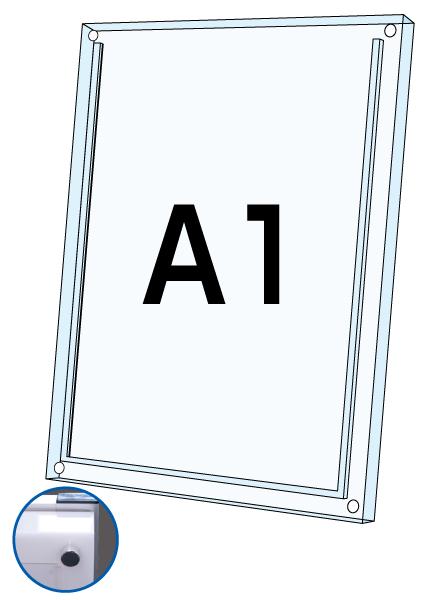 ロティライトスタンド看板用アクリルセット 乳半A1