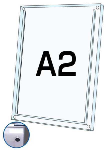 ロティライトスタンド看板用アクリルセット 乳半A2