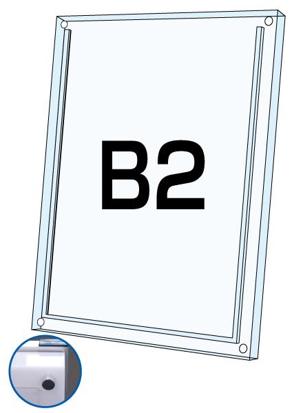 ロティライトスタンド看板用アクリルセット 乳半B2