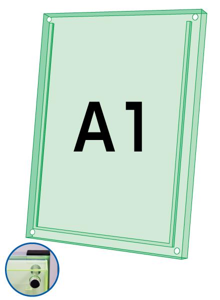ロティライトスタンド看板用アクリルセット グリーンA1