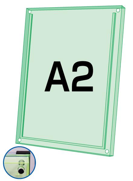 ロティライトスタンド看板用アクリルセット グリーンA2