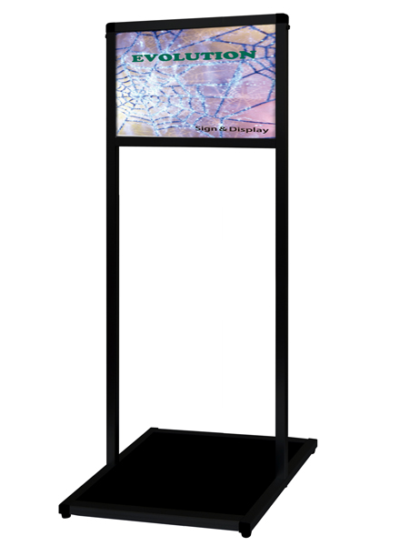 ブラックバリウスメッセージスタンド アルミ複合板タイプ A4横