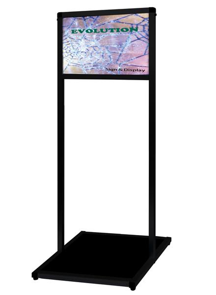 ブラックバリウスメッセージスタンド アルミ複合板タイプ A3横
